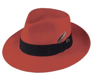 Bailey of Hollywood Crushable Litefelt Fedora - Red - L