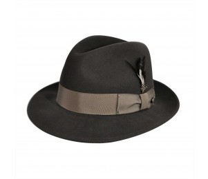 Bailey of Hollywood Blixen Litefelt Fedora - Basalt Grey - XXL