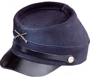 Henschel Cowhide Suede Civil War Cap