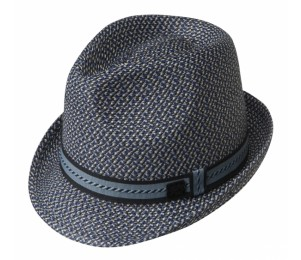 Bailey of Hollywood Mannes Summer Fedora - Navy - L
