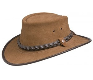 BC Hats Bac Pac Traveller Buffalo Leather Outback Hat