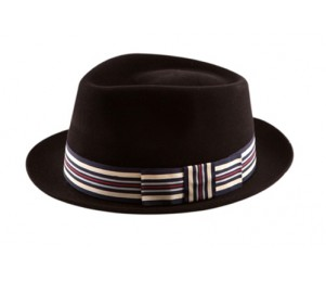 Christys' of London Brooklyn Fur Felt Fedora - Black - 7 (M)