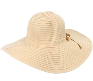 Oceanside Crushable Wide Brim Ribbon Hat