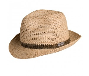 Conner Crocheted Raffia Fedora Hat