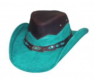 Bullhide Jealous Leather Outback Cowboy Hat