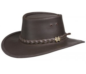 BC Hats Stockman Oily Outback Hat - Brown - XL