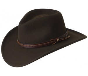 Wind River by Bailey Litefelt Crushable Firehole Western Hat - Black - S