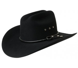 Bailey Western Gridley 2X Wool Felt Hat - Black - 7 1/4 (L)