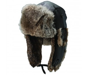 Woolrich Lambskin Leather Trapper with Rabbit Fur Earflaps