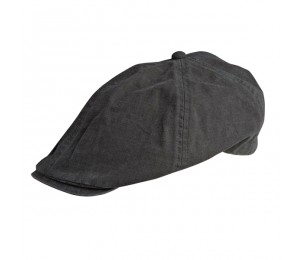 Conner Elastic Back Cotton Ivy Cap - Grey - S/M