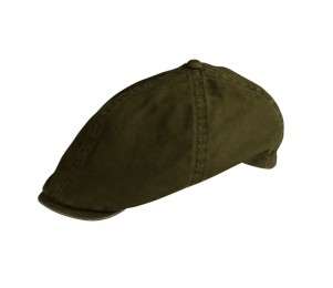 Conner Elastic Back Cotton Ivy Cap - Olive Khaki - S/M