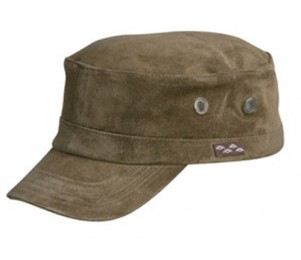 Conner Genuine Suede Leather Design Army Cap