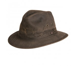 Conner Indy Jones Mens Water Resistant Cotton Hat - Brown - XXL