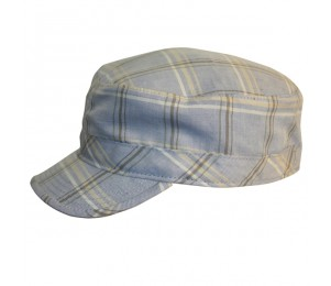 Conner Plaid Army Cap - Blue Plaid - L