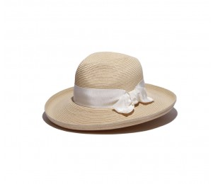 Physician Endorsed Adriana Straw Sun Hat - Natural/White - One Size Fits Most