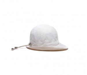Physician Endorsed B Zee Women's Cotton Sun Hat - White/Black - One Size Fits Most