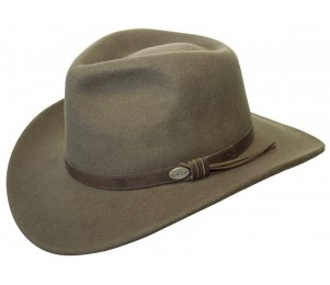 Conner Wool Felt Crushable Aussie Outback Hat