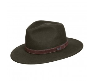 Conner Flinders Wool Outback Fedora Hat - Loden Green - XL
