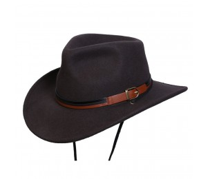 Conner Port Douglas Wool Outback Fedora Hat