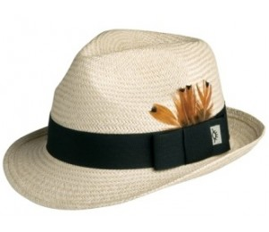 Conner Palm Straw Fedora Hat