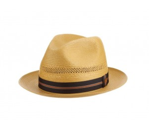 Kentucky Derby Smarty Jones Shantung Straw Panama Fedora