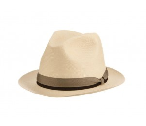 Kentucky Derby Sea Biscuit Shantung Straw Panama Fedora Hat