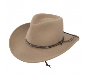 Stetson Mountain View Crushable Wool Cowboy Hat - Medium - Sand