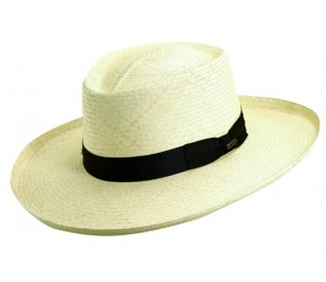 Scala Genuine Panama Big Brim Gambler Hat