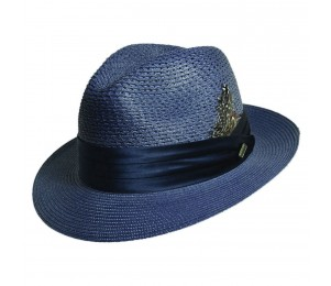 Stacy Adams Sewn Braid Fedora Hat