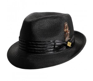Stacy Adams Kingston Polybraid Pinch Front Fedora