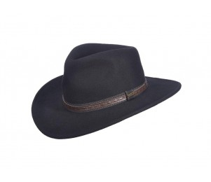Scala San Antonio Crushable Wool Felt Outback Hat