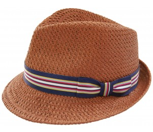 Stitch Hats Teardrop Straw Fedora