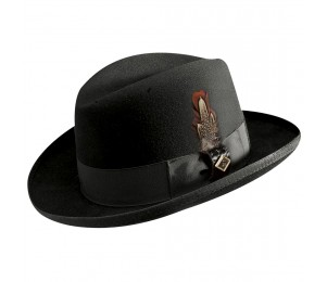 Stacy Adams Harvey Premium Wool Felt Homburg