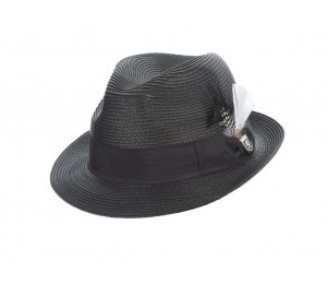 Stacy Adams Belmont Poly Braid Pinch Front Fedora