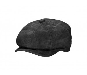 Stetson Edison Weathered Leather Newsboy Cap