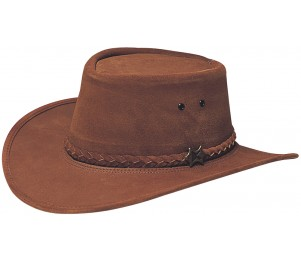BC Hats Stockman Suede Outback Hat