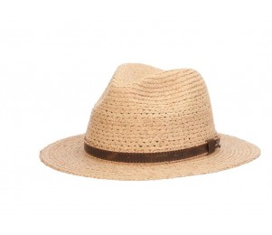 Tommy Bahama Inagua Raffia Braid Safari Fedora Hat